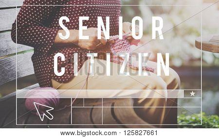 Senior Citizen Pension Retirement Concept