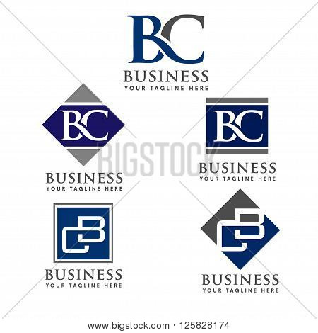 BC, CB letter Business design template logo icon