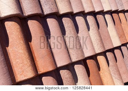 Part of the roof tile pattern closeup