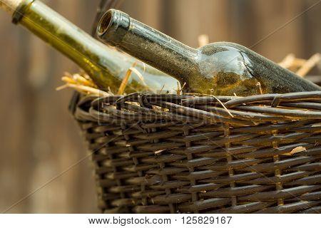 Bottles In Picnic Basket