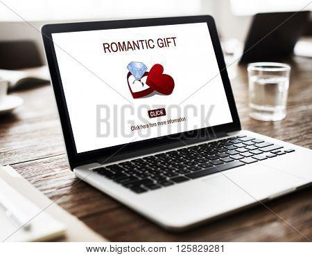 Romantic Gift Ring Surprise Romance Concept