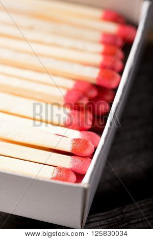 Several Matchsticks In White Box