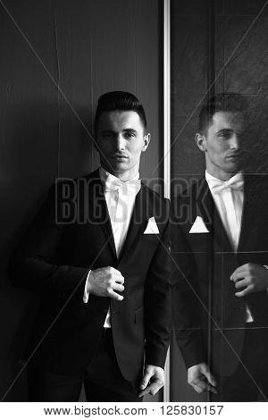 Elegant Man In The Suit