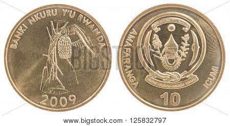 Rwanda Franc Coin Set