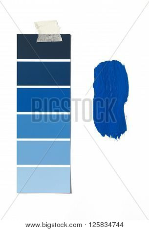 Isolated Paint Swatch and sample on white