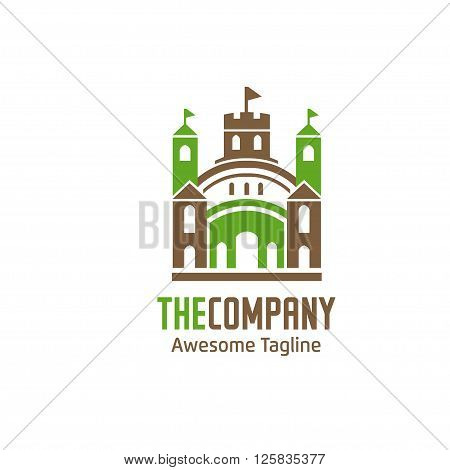 modern green palace house design Logo element