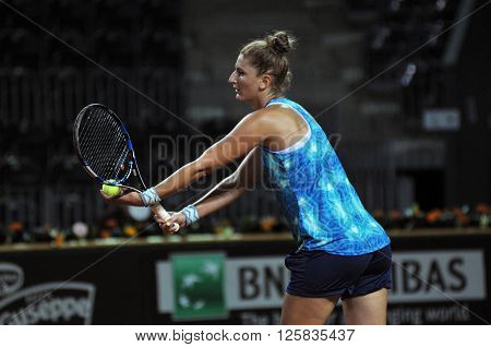 Tennis Player Irina Begu Training Before A Match