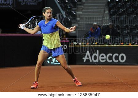Tennis Player Julia Gorges Training Before A Match