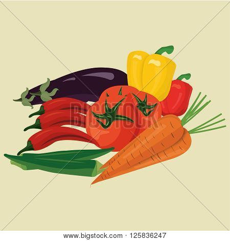 vector drawing vegetables 100%vector can re editable and re sizable
