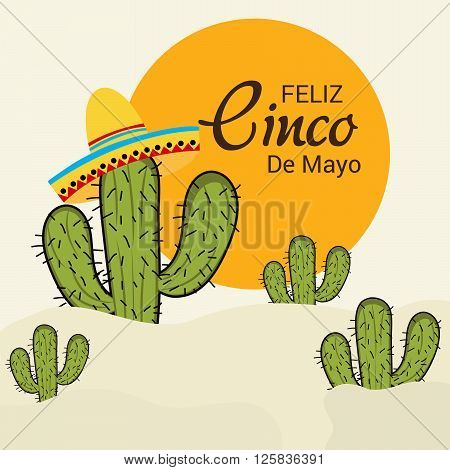 illustration of Independence Day Of Mexico.Cinco de mayo - mexican holiday.