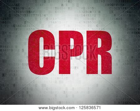Health concept: CPR on Digital Paper background