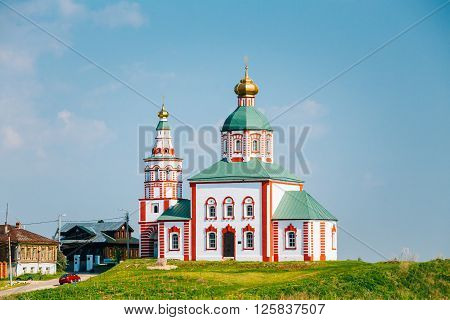 Church Of Elijah The Prophet Or Elias Church - Church In Suzdal, Russia. Built In 1744. Golden Ring Of Russia