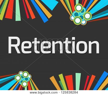 Retention text written over dark colorful background.