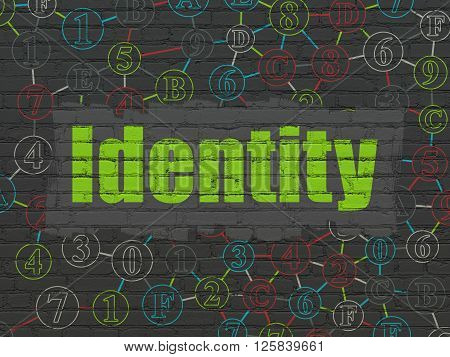 Safety concept: Identity on wall background
