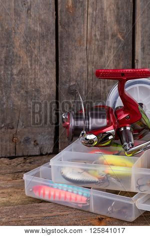Fishing Tackles And Fishing Baits In Box