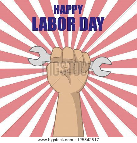 Labor Day Design with the handoff worker holding the wrench