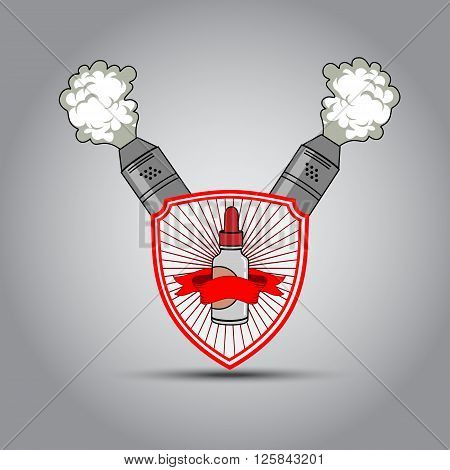 The Emblem In The Shape Of A Shield For Electronic Cigarette
