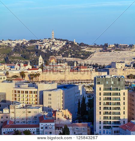 Jerusalem Old City And Temple Mount