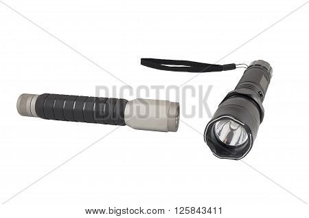 the led FLASHLIGHT on a white background