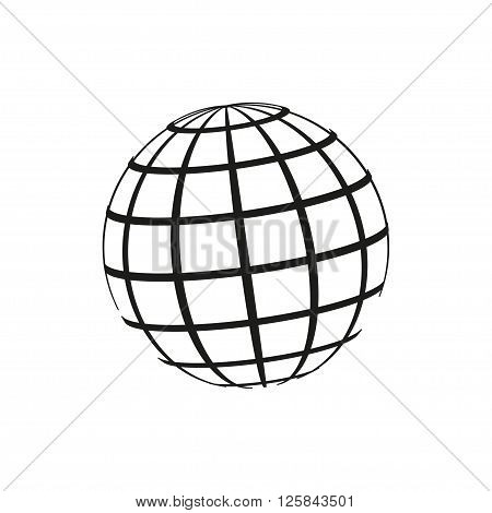 Planet icon planet pictograph planet web icon. Vector illustration