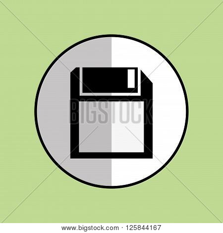 diskette concept with icon design, vector illustration 10 eps graphic.