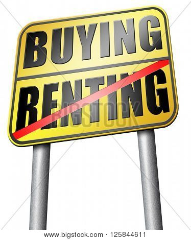 renting mortgage home ownership rent or buy a house or property and having a bank loan