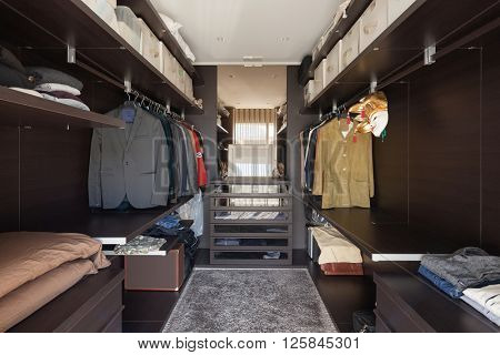 Interiors of new apartment , wide dressing room