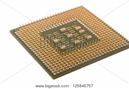 the Modern CPU isolated on white background