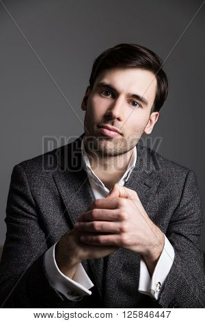 Businessperson Fist In Palm