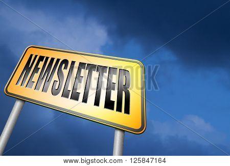 newsletter latest hot breaking news bulletin