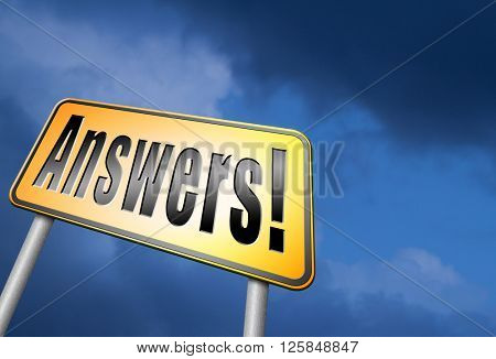 find answers and search truth to questions, every question has an answer to solve the problem