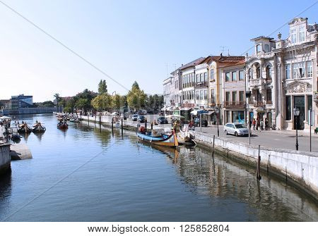 Photo of the River of Aveiro in Portugal. September - 2014