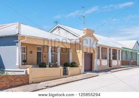PORT ELIZABETH SOUTH AFRICA - FEBRUARY 27 2016: A view of historic houses in Kirkwood Street in North End dating from 1930