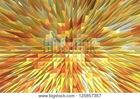 creative abstract brown and yellow texture like explosion
