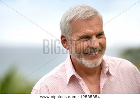 Portrait of a senior man smiling