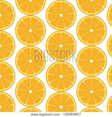 Oranges pattern. Slices of orange background illustration
