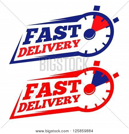 Vector stock of fast delivery with chronometer icon symbol