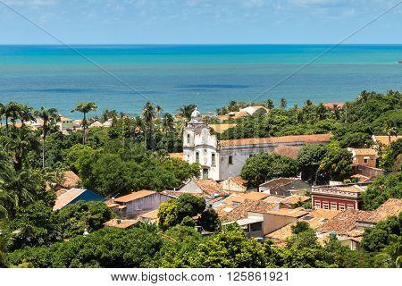 Aerial view of Olinda, Pernambuco state, Brazil