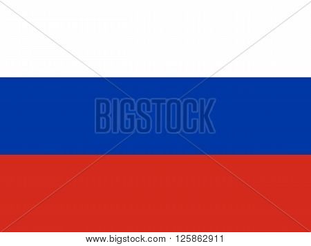 National official flag of the Russian Federation background vector
