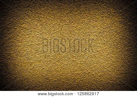 Golden Revetment Wall Putty High Contrasted With Vignetting Effect Macro Texture Background