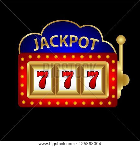 jackpot on a slot machine vector illustration