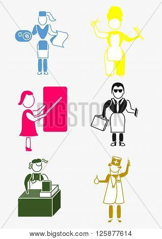 icon for business, employee, worker and organization