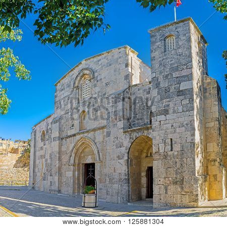 The St Anne's Church was built over the site of grotto that is the birthplace of the Virgin Mary and preserved since Crusader times Jerusalem Israel.