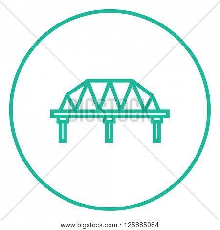 Rail way bridge line icon.