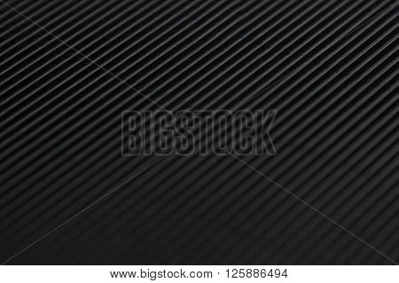 Abstract minimalistic black striped background with diagonal lines and header. The texture.