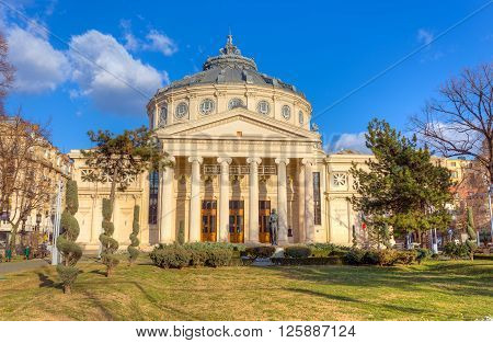 The Romanian Athenaeum concert hall, Bucharest, Romania