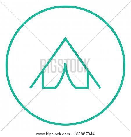 Tent line icon.