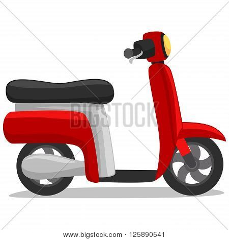 Stock Vector Illustration of a Red Scooter