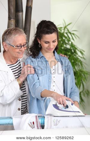 Senior woman with a homemaker