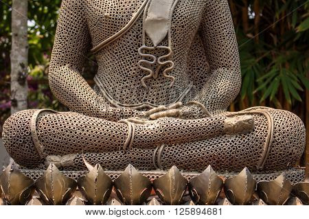Buddha statue is Buddha posture meditation in Thailand